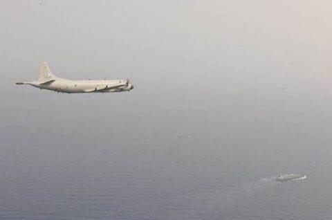 EU海上部隊スペイン空軍P-3Mと海賊対処行動共同訓練(航空隊)No3