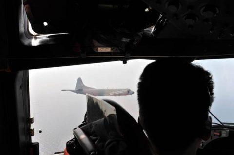 EU海上部隊スペイン空軍P-3Mと海賊対処行動共同訓練(航空隊)No4