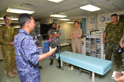 RIMPAC2016 護衛艦「ひゅうが」で潜水医学専門家の意見交換会No3