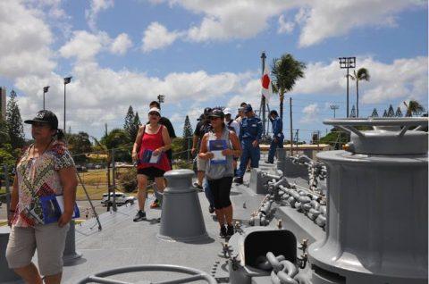 リムパック2016 護衛艦ちょうかい・ひゅうがの一般公開1