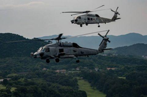 海上自衛隊 第51航空隊と米海軍HSM-51の共同訓練No2