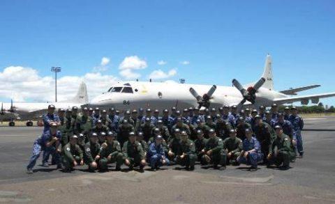 平成28年度米国派遣訓練(リムパック2016)海自八戸航空基地2ハワイ到着No1