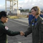 平成28年度米国派遣訓練(リムパック2016)海自八戸航空基地2ハワイ到着