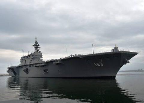 海上自衛隊の護衛艦「いずも」八戸港初入港入港から出港までの写真No01