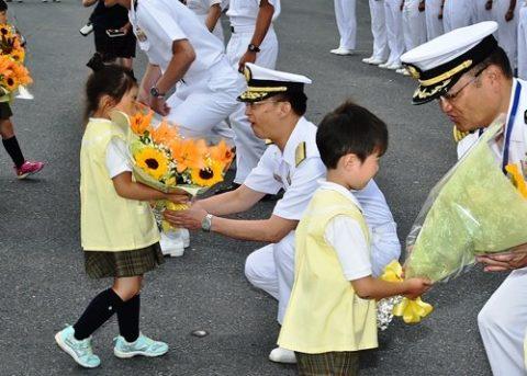 海上自衛隊の護衛艦「いずも」八戸港初入港入港から出港までの写真No07