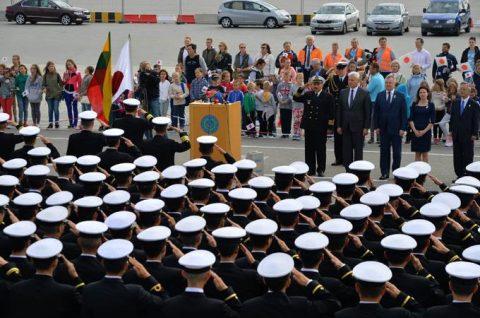 海上自衛隊2016年幹部候補生 練習艦隊 遠洋航海15リトアニアNo04