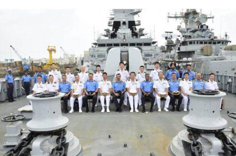 24次海賊対処行動水上部隊23インド海軍との親善訓練No1
