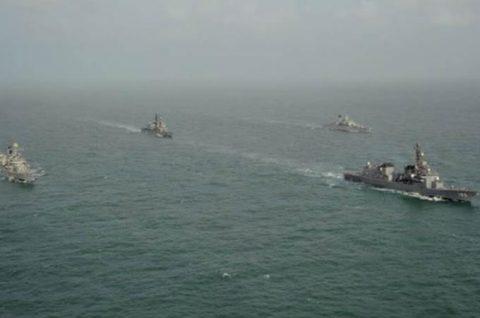 24次海賊対処行動水上部隊23インド海軍との親善訓練No3
