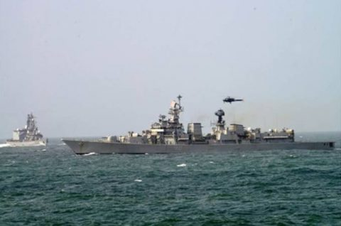 24次海賊対処行動水上部隊23インド海軍との親善訓練No5