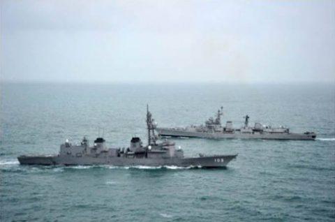 24次海賊対処行動水上部隊23インド海軍との親善訓練No6