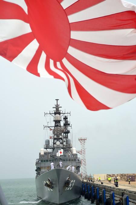 24次海賊対処行動水上部隊24 ゆうだち・ゆうぎりとインド海軍No10