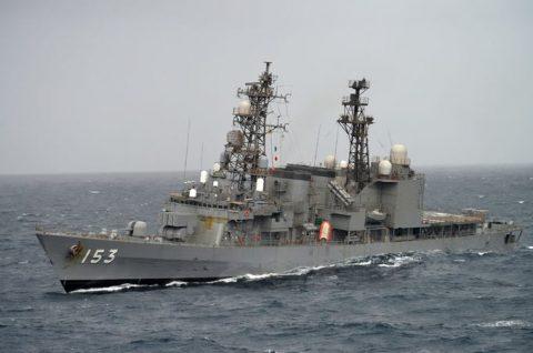 24次海賊対処行動水上部隊24 ゆうだち・ゆうぎりとインド海軍No11