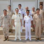 海上自衛隊 海賊対処行動水上部隊(25次隊)8支援隊・航空隊表敬