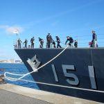 練習艦隊ドイツ(ロストック)の寄港2(ドイツ日本国大使館facebook)