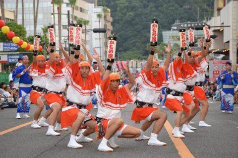 徳島航空基地(徳島教育航空群)かもめ連2016による大和阿波踊りNo4
