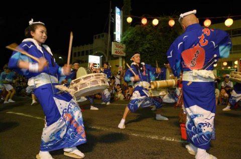 徳島航空基地(徳島教育航空群)かもめ連2016による大和阿波踊りNo7