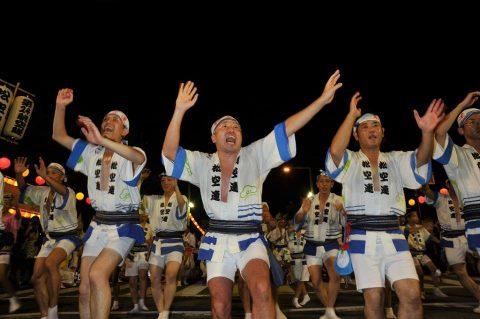 第24航空隊「松空連」による徳島阿波踊り2016の記録No5