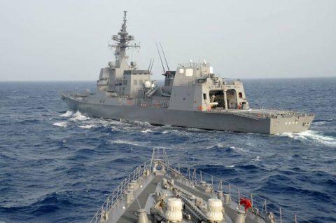 海上自衛隊 海賊対処行動水上部隊(25次隊)いなづま・すずつき6Nof2