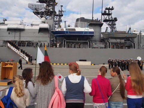 在リトアニア日本国大使館Facebookに練習艦隊寄港の記録が紹介No03