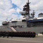 在リトアニア日本国大使館Facebookに練習艦隊寄港の記録が紹介