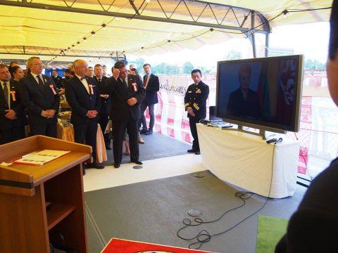 在リトアニア日本国大使館Facebookに練習艦隊寄港の記録が紹介No11