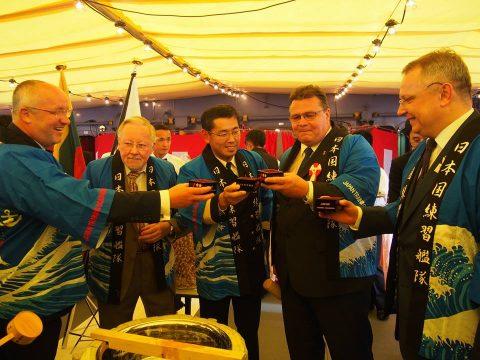 在リトアニア日本国大使館Facebookに練習艦隊寄港の記録が紹介No12