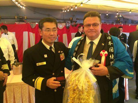 在リトアニア日本国大使館Facebookに練習艦隊寄港の記録が紹介No14