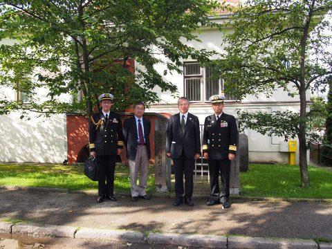 在リトアニア日本国大使館Facebookに練習艦隊寄港の記録が紹介No17