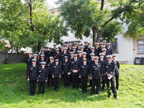 在リトアニア日本国大使館Facebookに練習艦隊寄港の記録が紹介No18