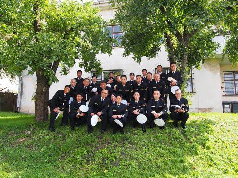 在リトアニア日本国大使館Facebookに練習艦隊寄港の記録が紹介No19
