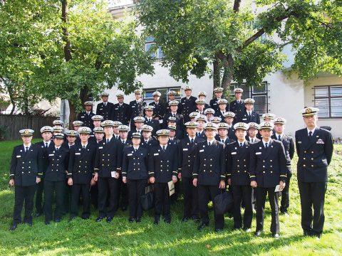 在リトアニア日本国大使館Facebookに練習艦隊寄港の記録が紹介No20