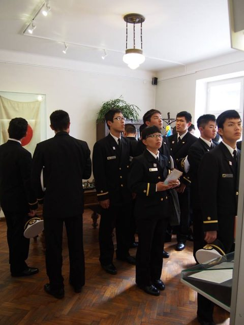在リトアニア日本国大使館Facebookに練習艦隊寄港の記録が紹介No23