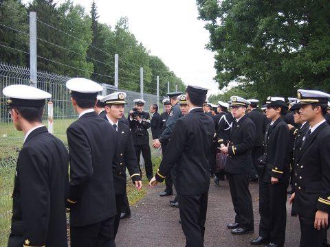 在リトアニア日本国大使館Facebookに練習艦隊寄港の記録が紹介No42