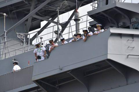 パシフィック・パートナーシップ2016 呉基地に帰国(入港)様子No3