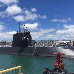 平成28年度第1回米国派遣訓練 パールハーバーに潜水艦「たかしお」が入港