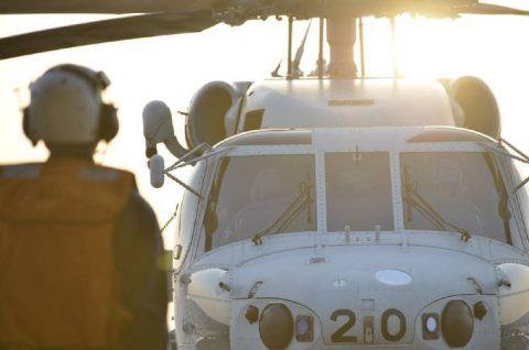 派遣海賊対処行動水上部隊(25次隊)11 SH60K~艦上体育No3