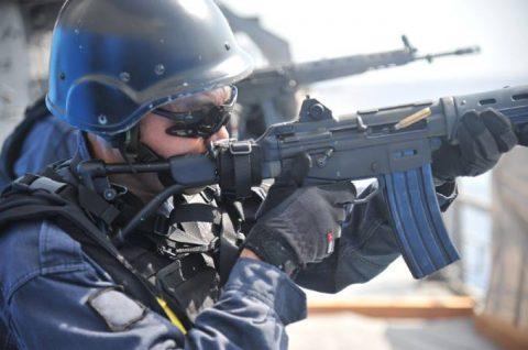 派遣海賊対処行動水上部隊(25次隊)11 SH60K~艦上体育No4