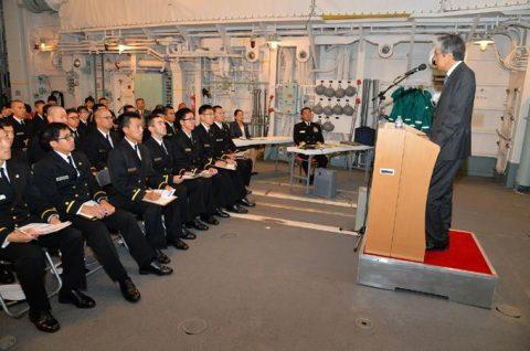 海上自衛隊2016年幹部候補生 練習艦隊 遠洋航海16ベルギーNo02