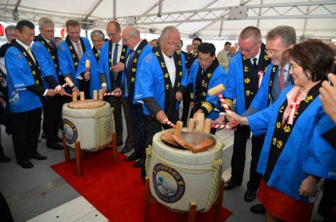 海上自衛隊2016年幹部候補生 練習艦隊 遠洋航海16ベルギーNo03