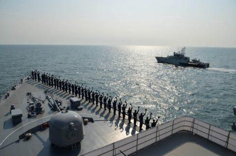 海上自衛隊2016年幹部候補生 練習艦隊 遠洋航海16ベルギーNo11