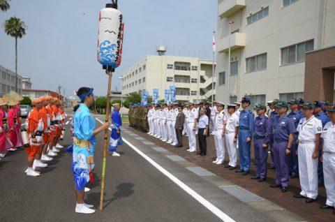 徳島教育航空群(徳島航空基地)「かもめ連」の阿波踊り出陣式と施設慰問3