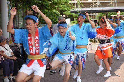 徳島教育航空群(徳島航空基地)「かもめ連」の阿波踊り出陣式と施設慰問5