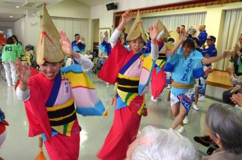 徳島教育航空群(徳島航空基地)「かもめ連」の阿波踊り出陣式と施設慰問7