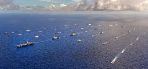 海上自衛隊 RIMPAC2016 護衛艦ちょうかい/ひゅうが雄姿No1