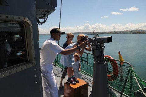 海上自衛隊 掃海艇ながしま 一般公開の様子 FRP7