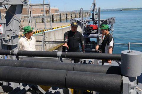 海上自衛隊 掃海艇ながしま 一般公開の様子 FRP8