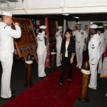 YOKOSUKA, Japan Japanese Minister of Defense, Tomomi Inada, visits the U.S. Navy's