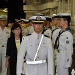 稲田朋美 防衛大臣 海上自衛隊 横須賀基地視察いずも・こくりゅう