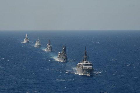 2016年幹部候補生 練習艦隊 遠洋航海18 NATO海上部隊No01