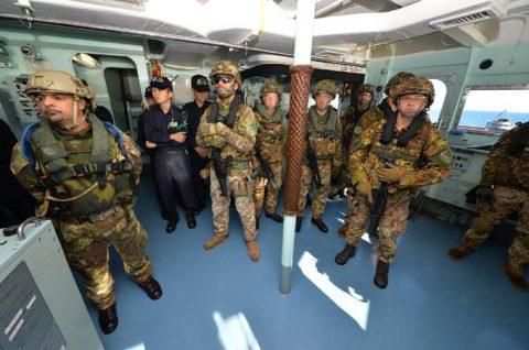 2016年幹部候補生 練習艦隊 遠洋航海18 NATO海上部隊No03